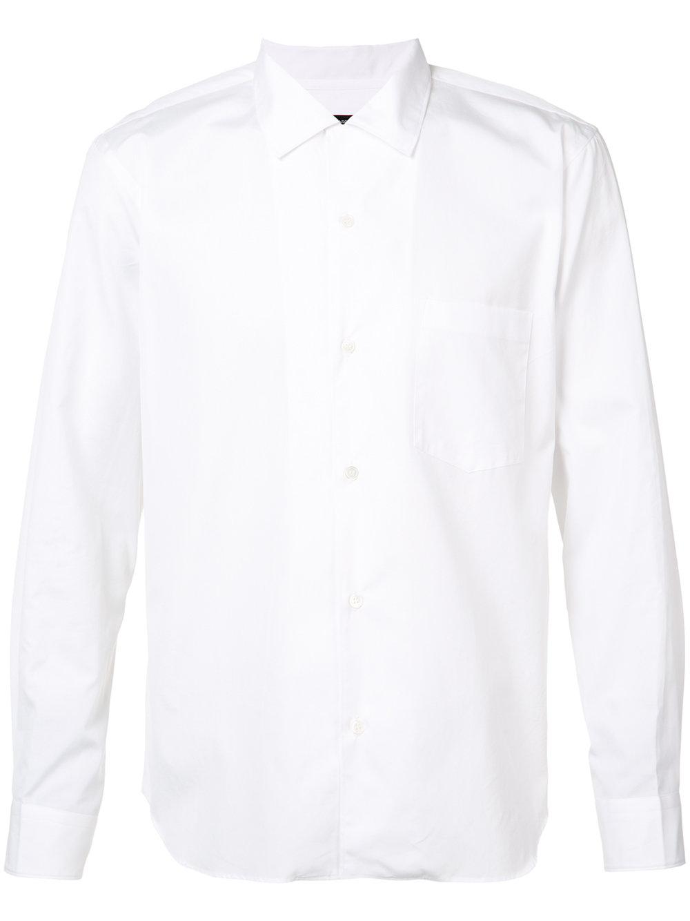 Comme des Ga  rçons Homme Plus   White Club Collar Shirt