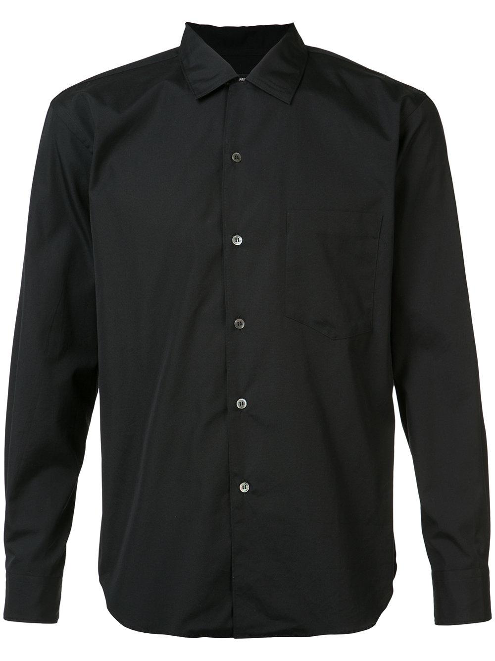 Comme des Ga  rçons Homme Plus   Black Club Collar Shirt