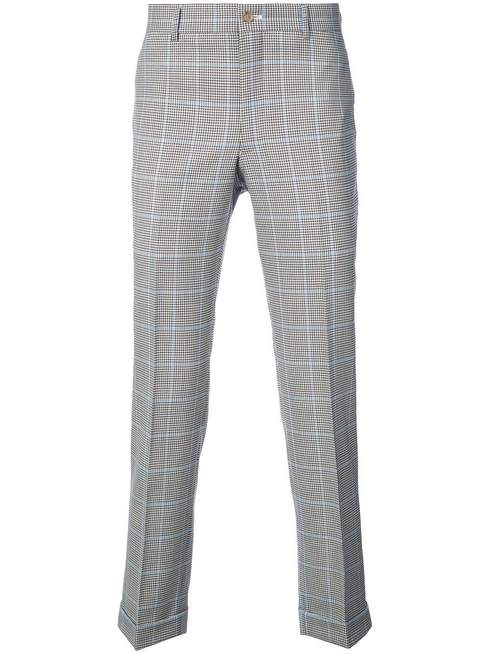 Comme des Ga  rçons Homme Plus   Check Print Trouser