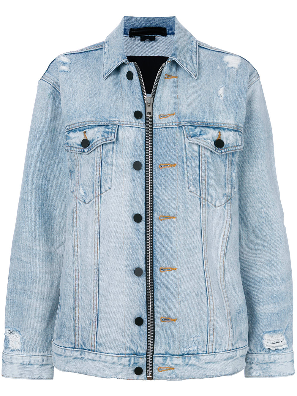 Alexander Wang   Daze Denim Zip Up Jacket