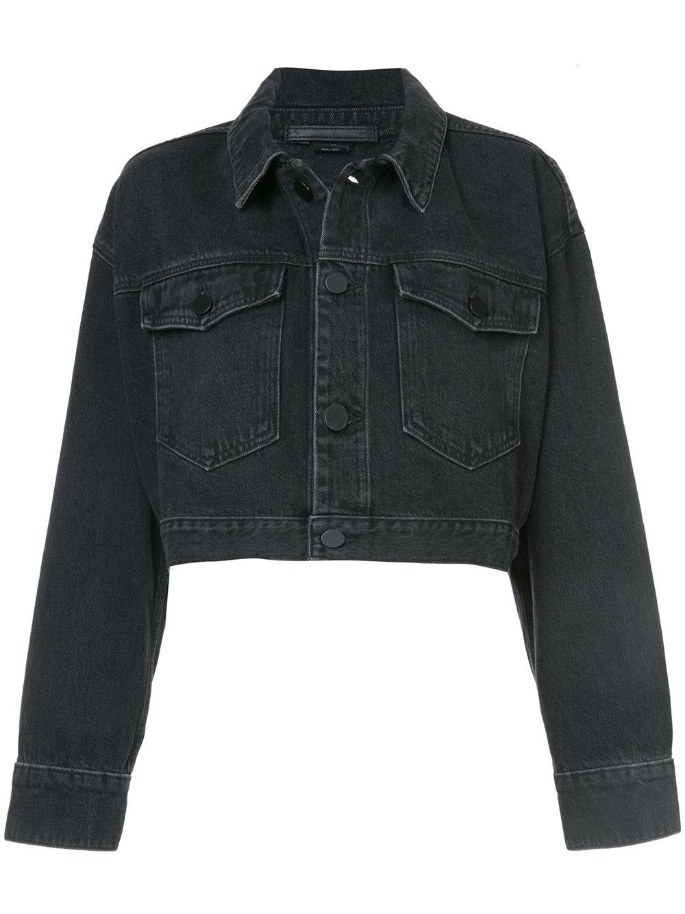 Alexander Wang   Cropped Denim Jacket