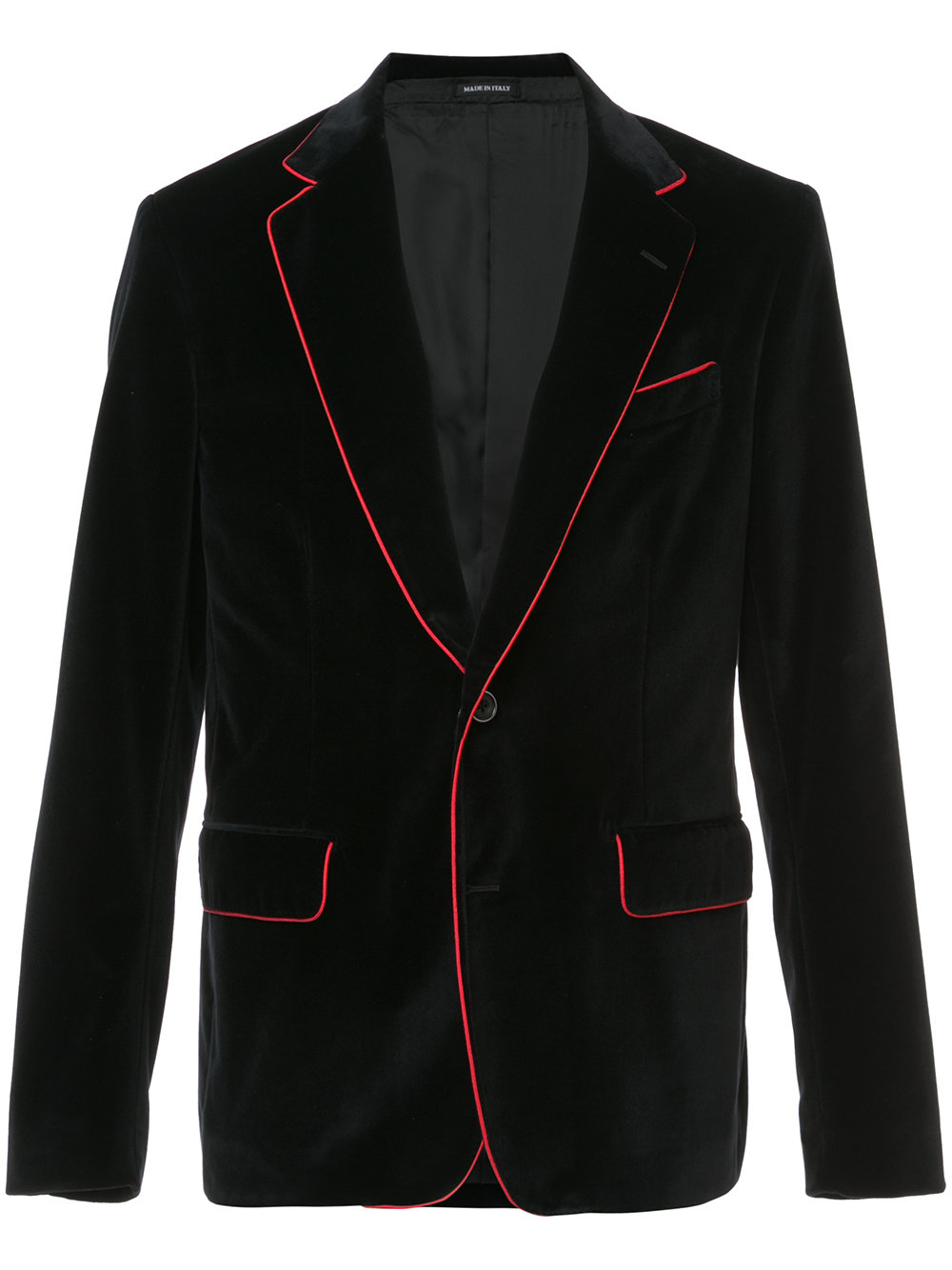 Alexander McQueen   Blazer With Red Contrasting Piping
