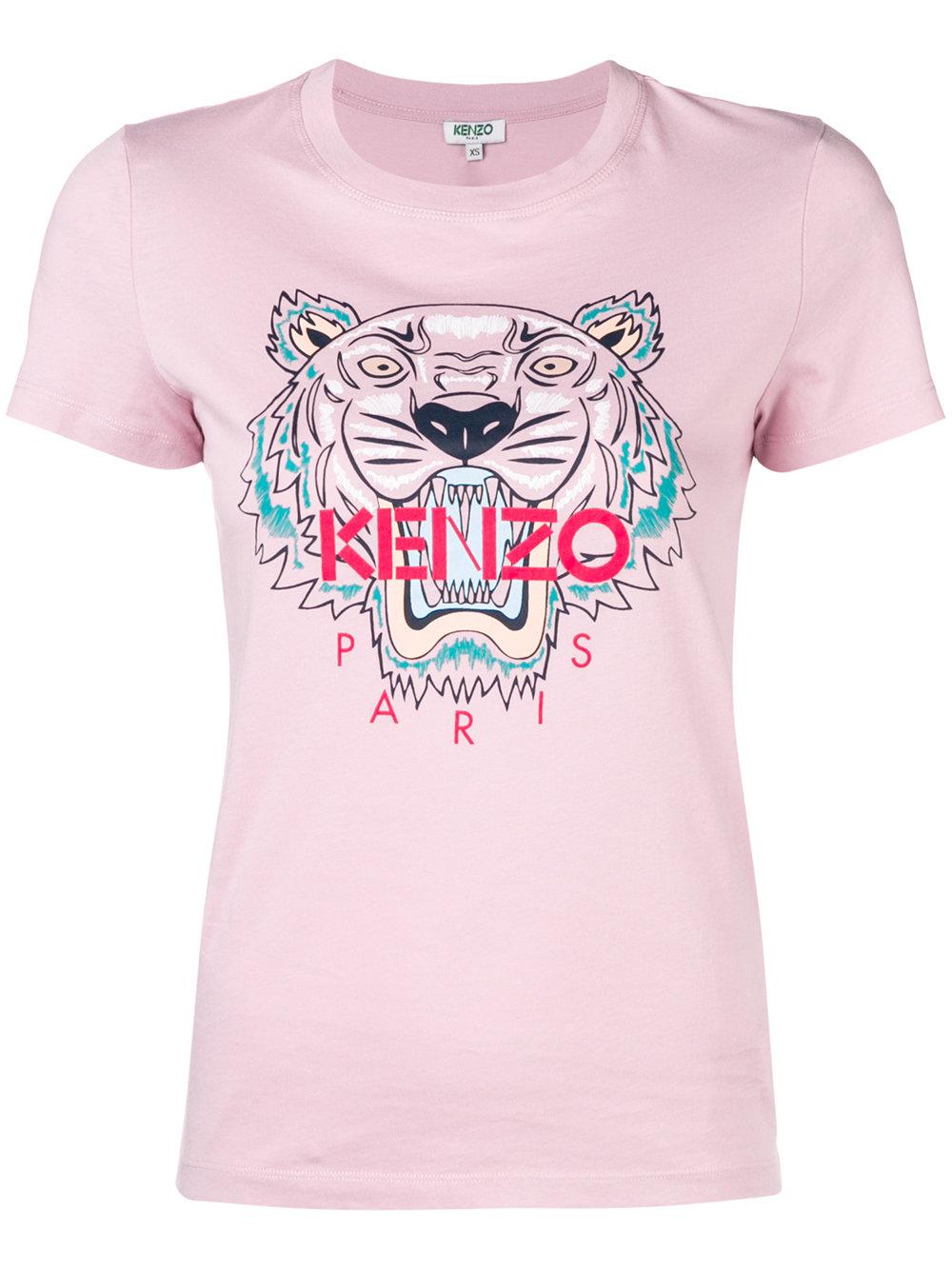 Kenzo   Light Pink Logo Tee Shirt