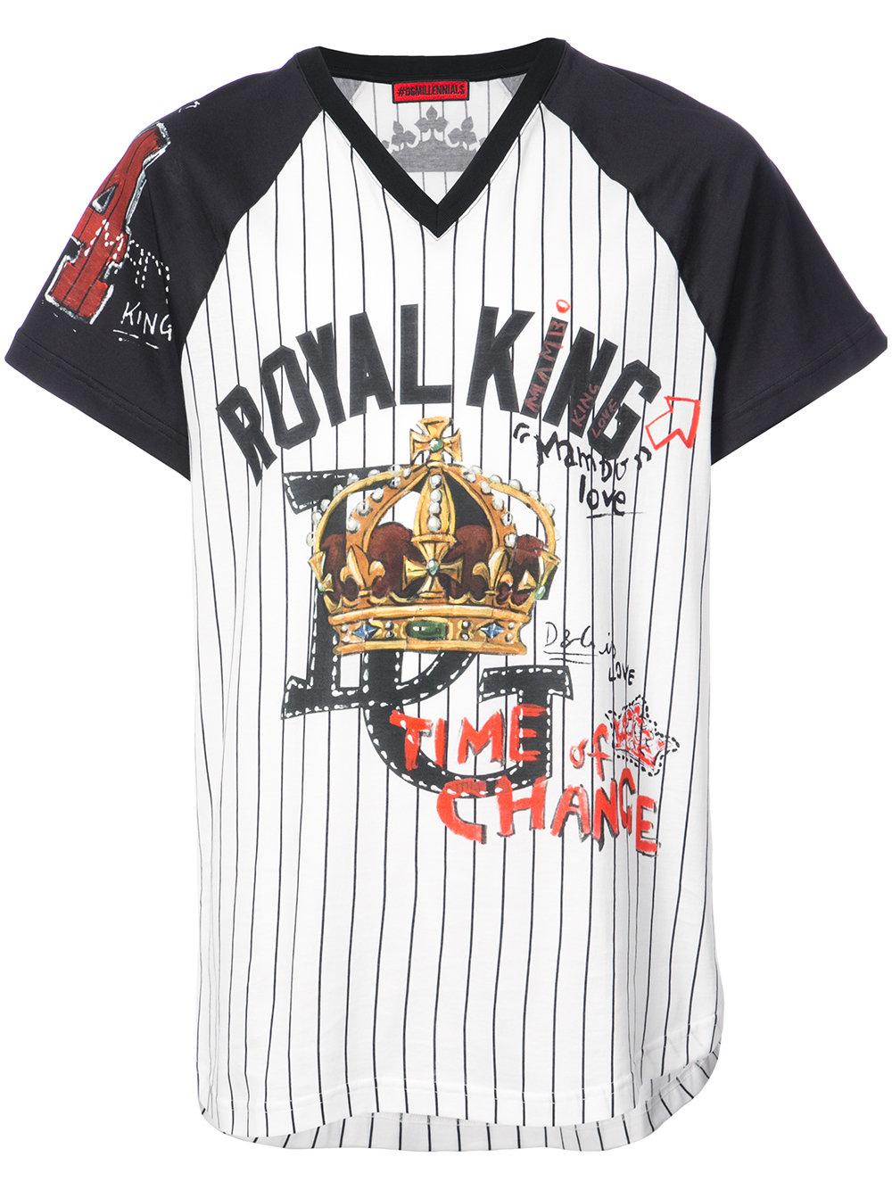 Dolce & Gabbana   Short Sleeve Printed Baseball Tee