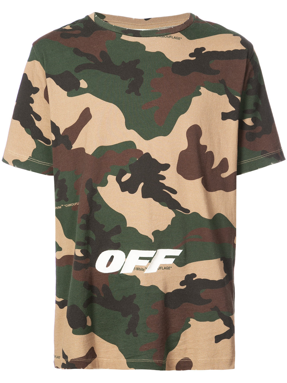 Off-White   Camo Short Sleeve Tee