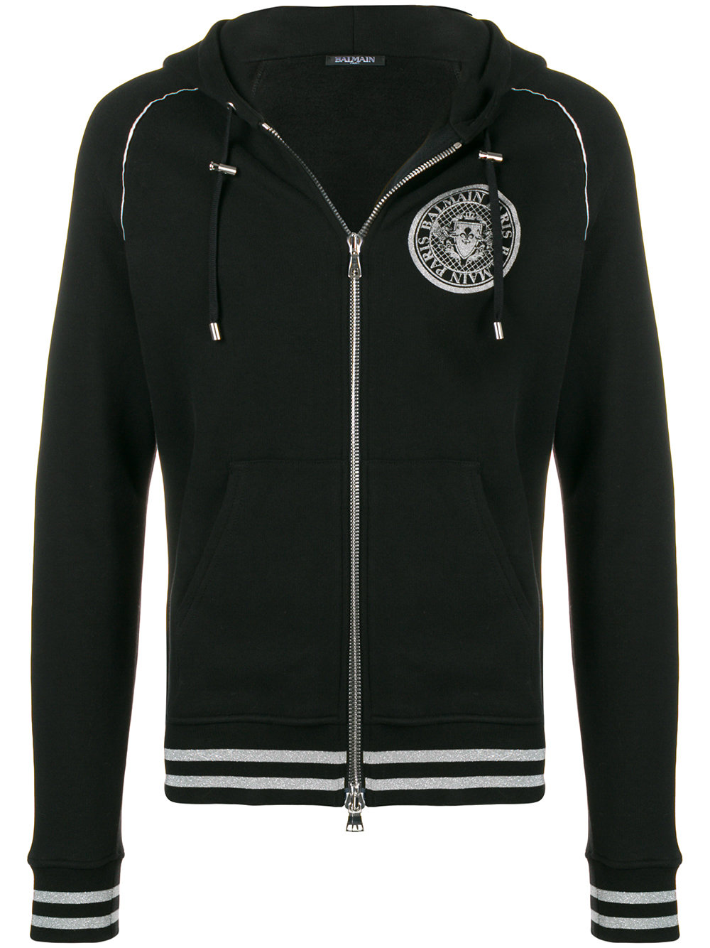 Balmain    Embroidered Biker Jacket