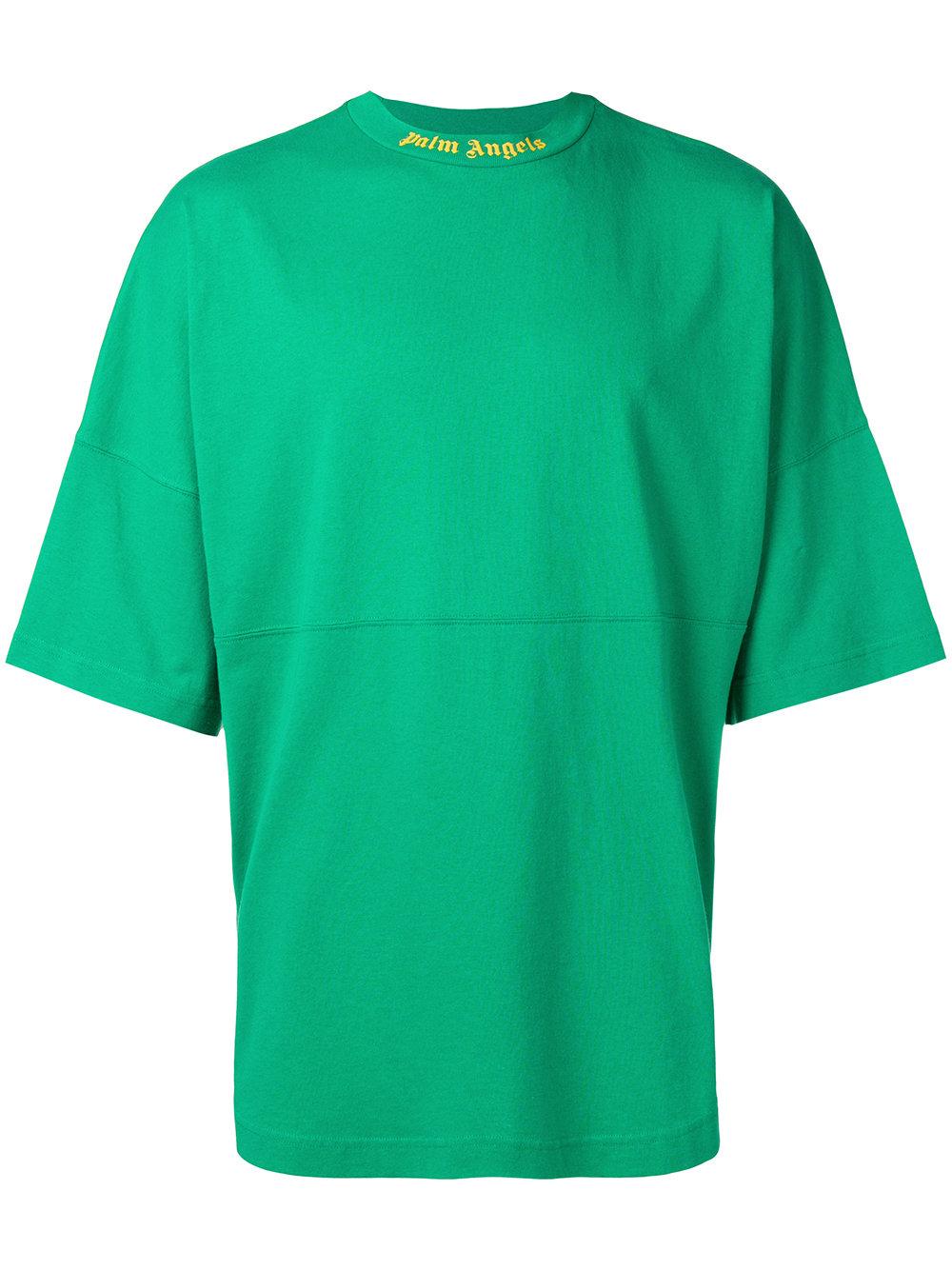 Palm Angels   Oversize Green Shirt