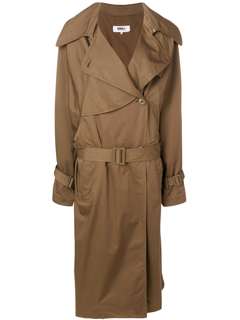 MM6 Maison Margiela   Long Belted Trench
