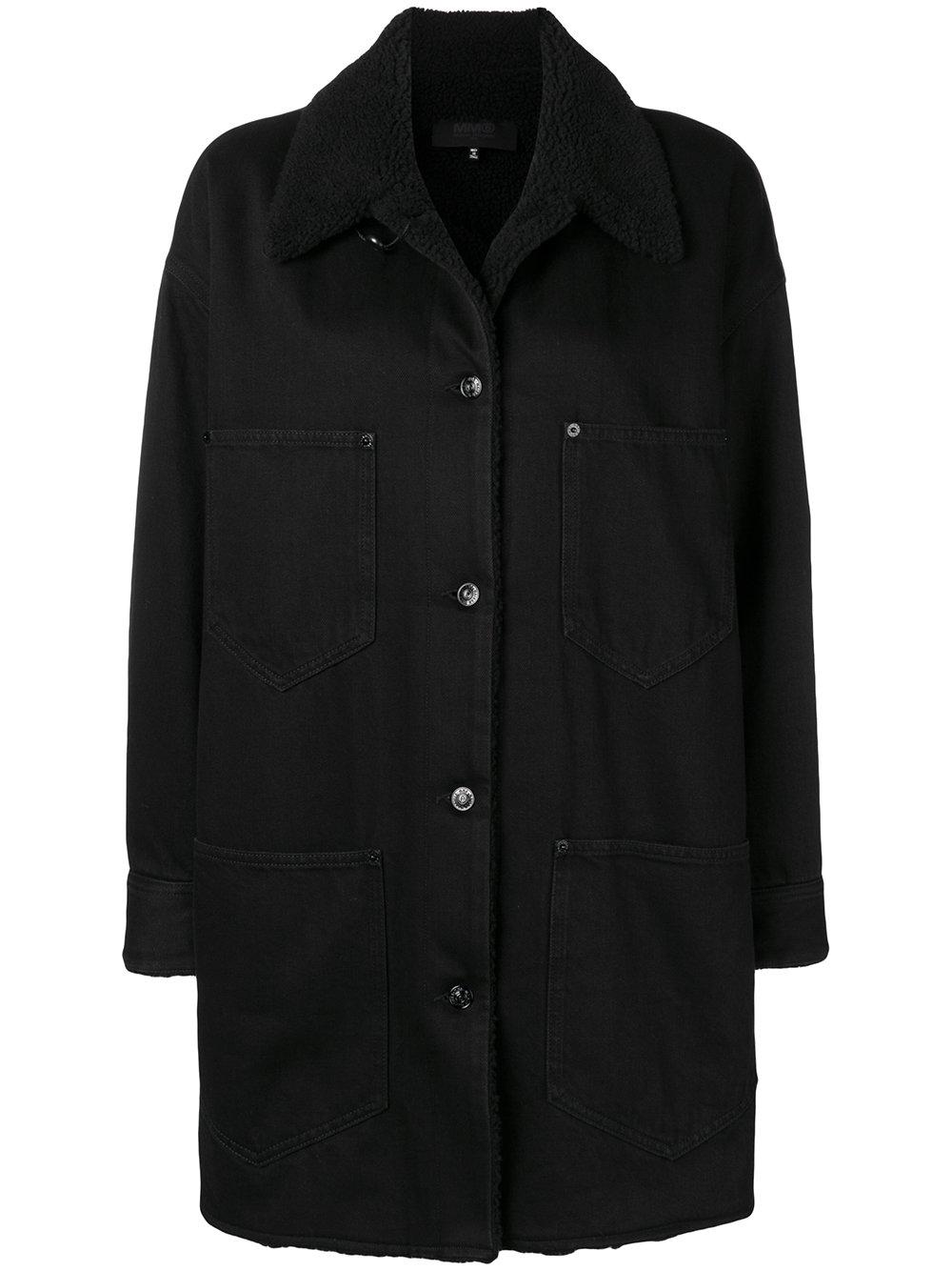 MM6 Maison Margiela   Button Up Denim Coat