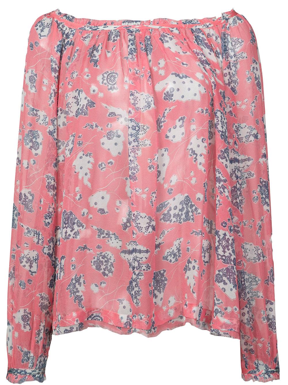 Raquel Allegra   Floral Long Sleeve Top