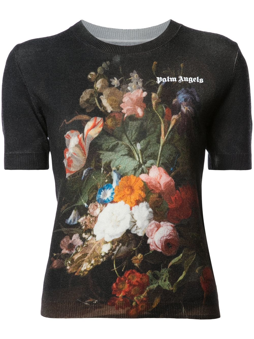 Palm Angels   Short Sleeve Floral Top