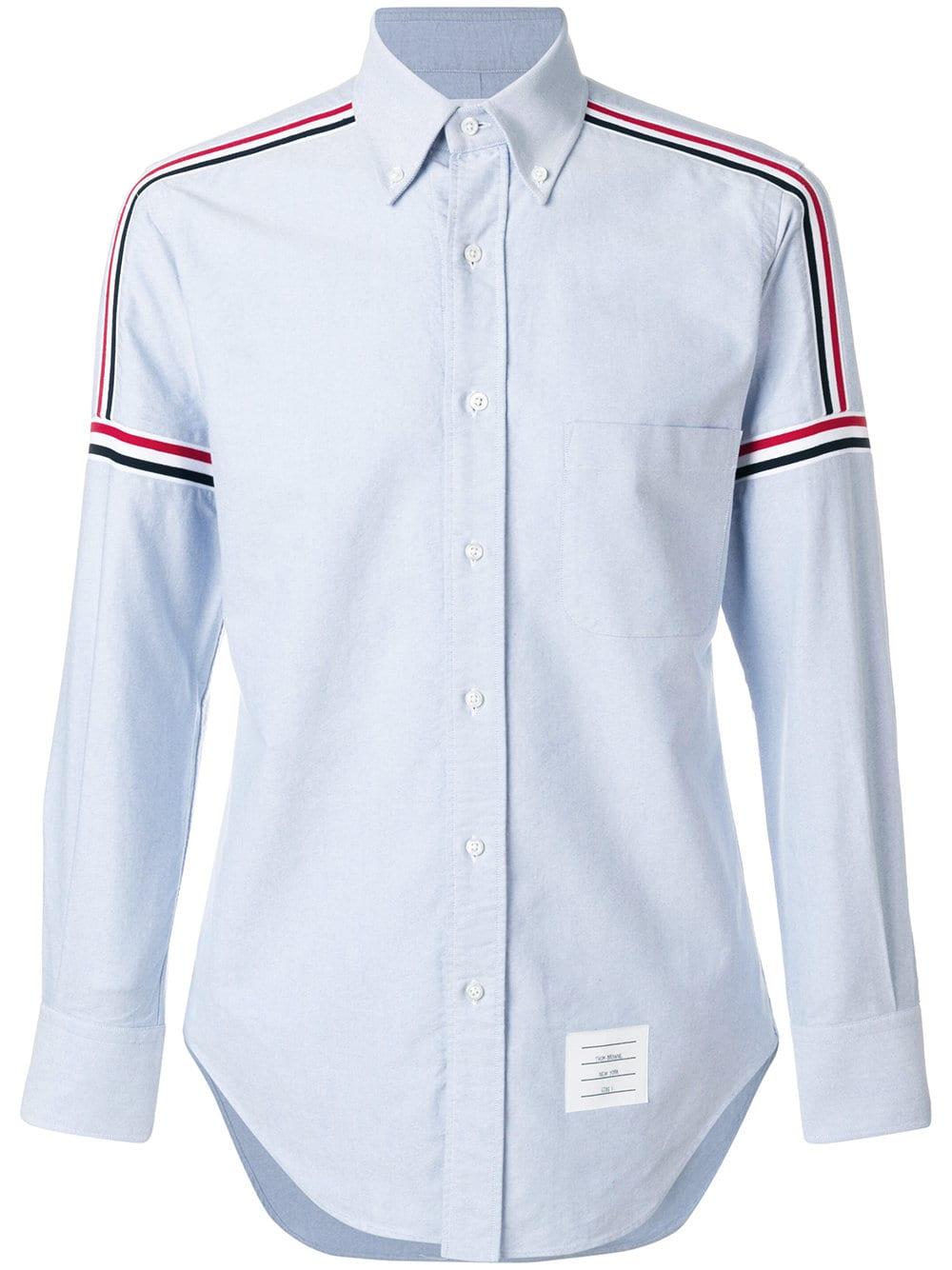 Thom Browne   Stripe Long Sleeve Shirt