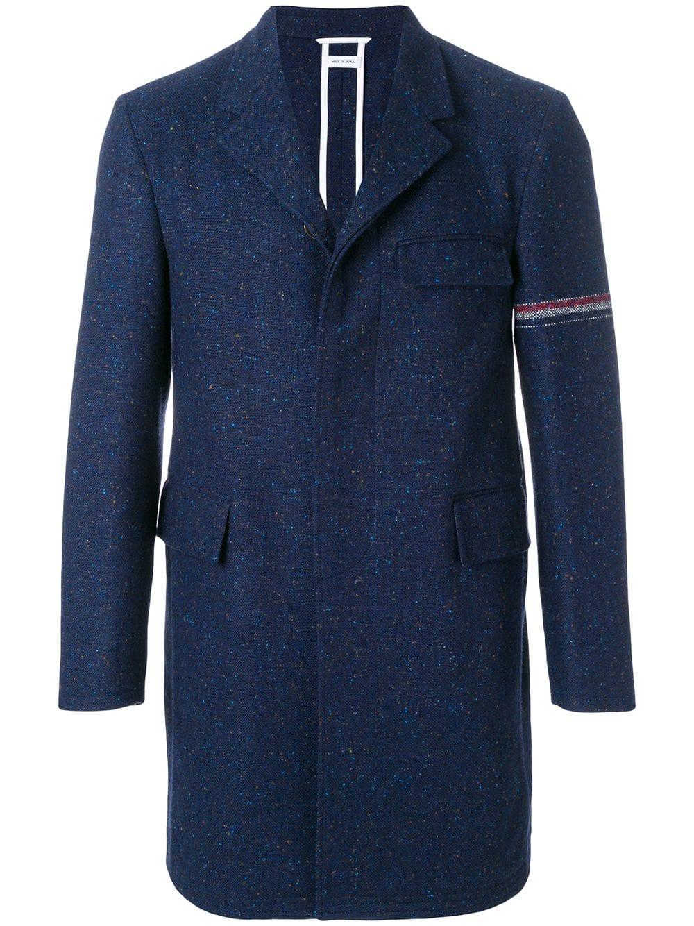 Thom Browne   Navy Overcoat