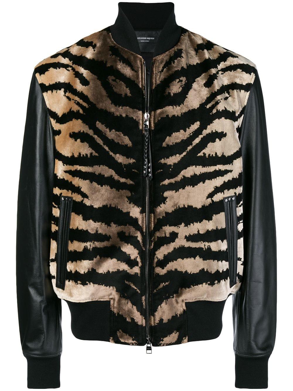 Alexander McQueen   Leather Animal Print Jacket