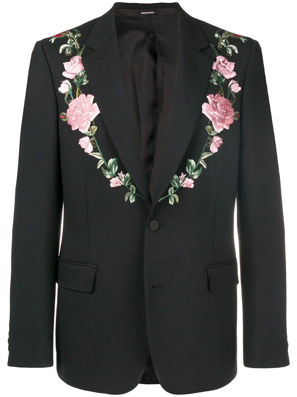 Alexander McQueen   Floral Trim Blazer