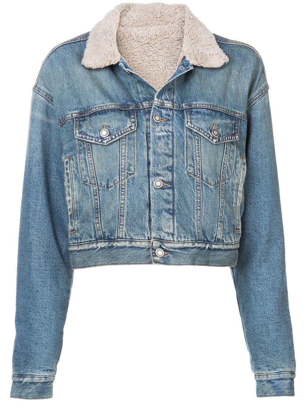 Marcelo Burlon County of Milan   Crop Denim Jacket