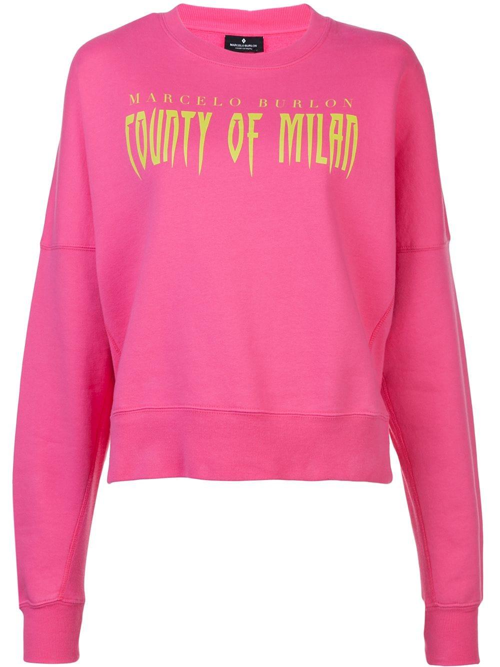 Marcelo Burlon County of Milan x   Pink Sweatshirt