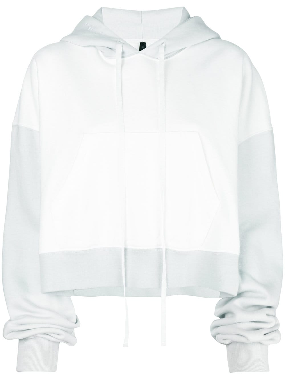 Unravel Project   White Crop Hoodie