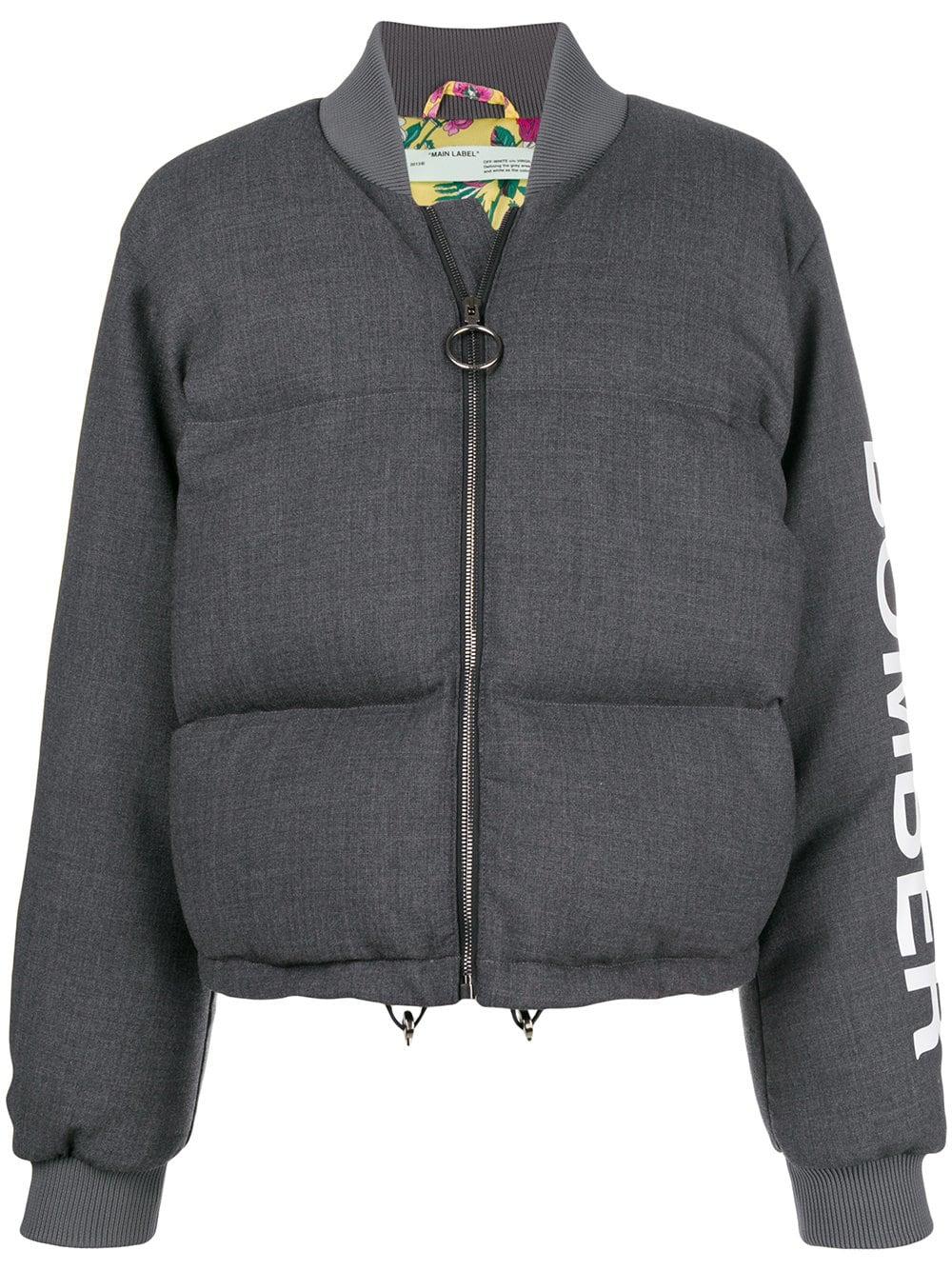 Off-White   Grey Puffer Jacket