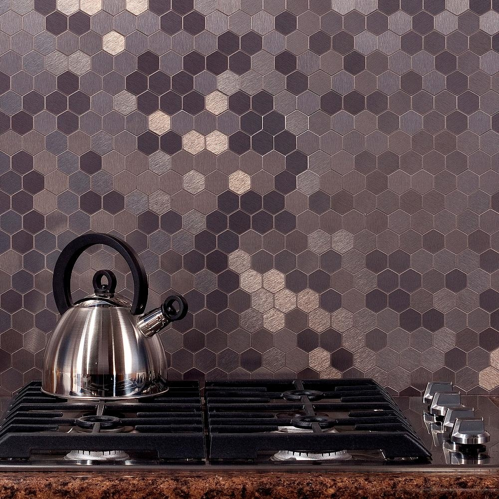Metal Tile Mosiac Honey Comb Hexagon Kitchen Backsplash.jpg