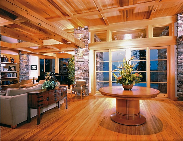 Living area wood look hardwood floors cabin style.jpg