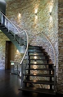 Livingarea hardwood staircse stone wall.jpg