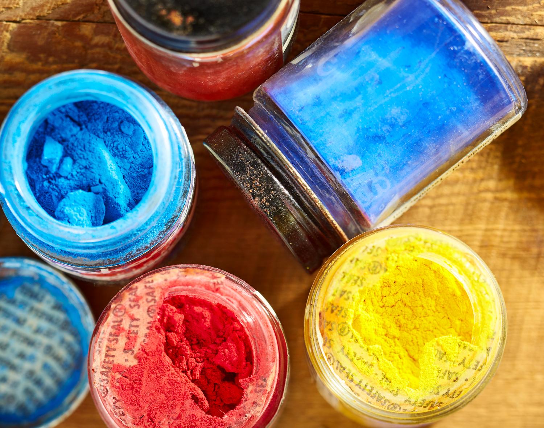 Colour Pigment Jars
