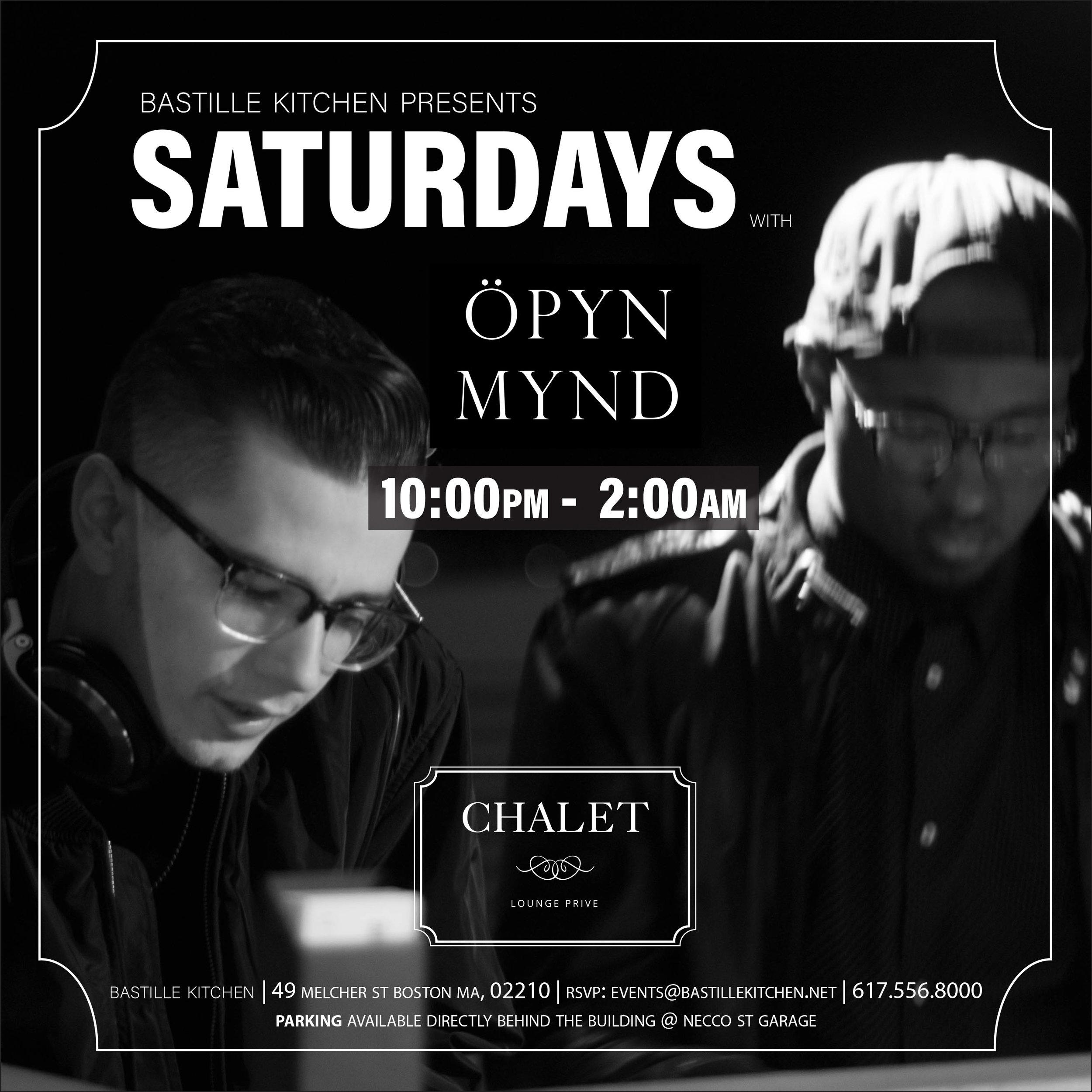 Saturdays in the Chalet at Bastille Kitchen - ÖPYN MYND is back at Bastille Kitchen every Saturday this summer