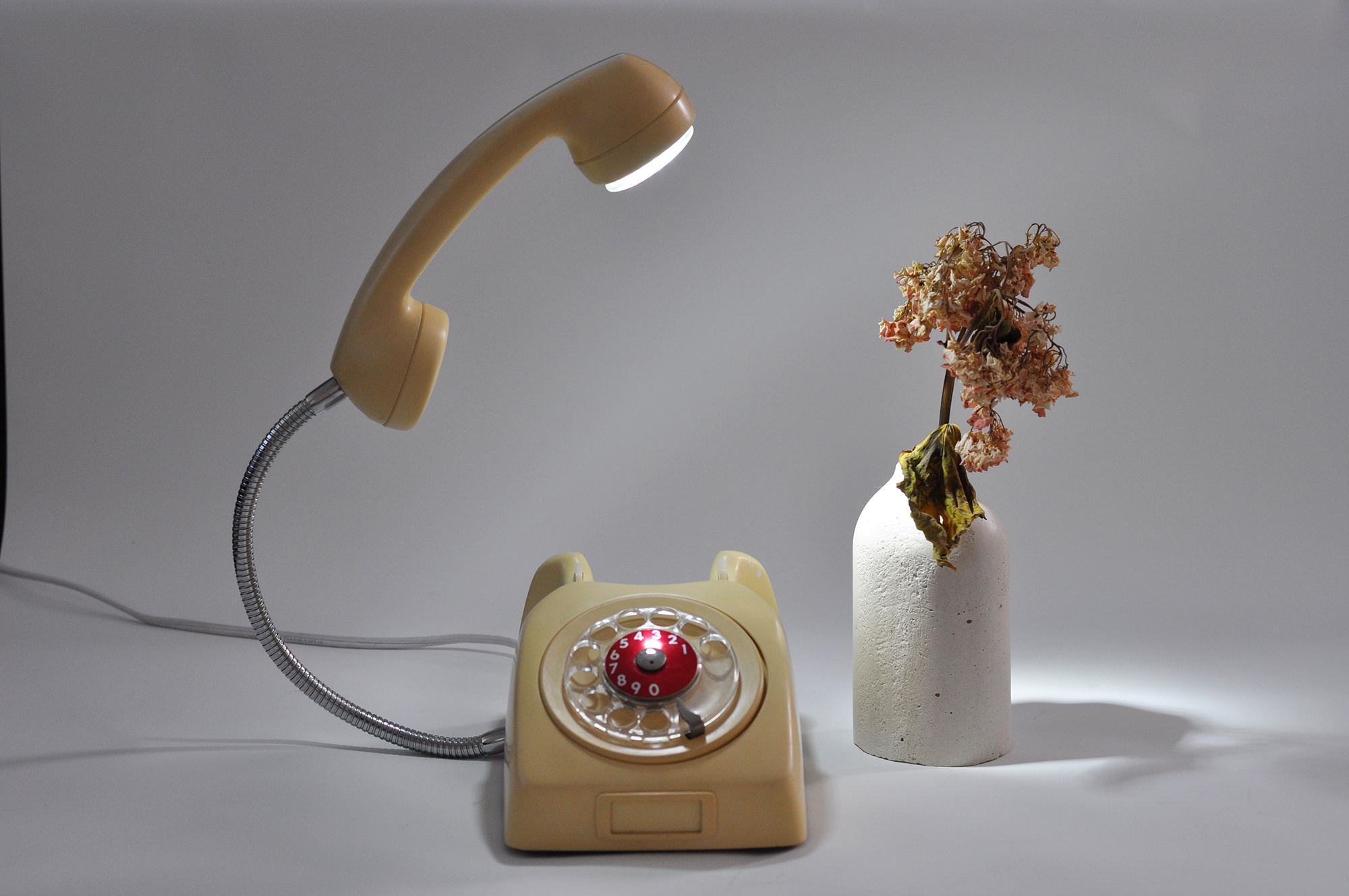 Vintage telephone lamp