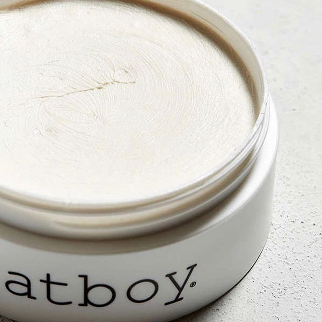 Fatboy pomade! Smells so good you'll steal it from your man and use for yourself! Available in the shop now!