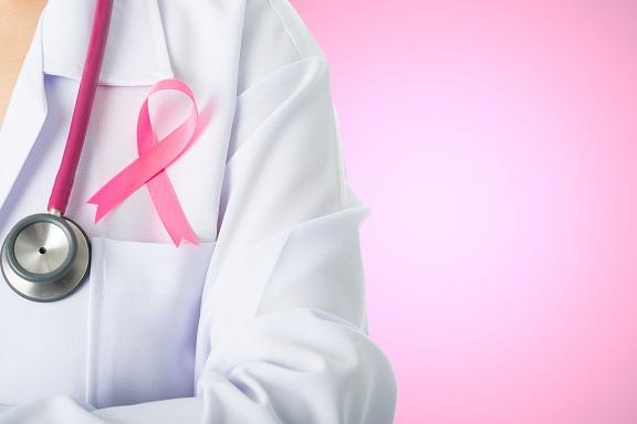 Cancer awareness medical stick ribbon for healthcare