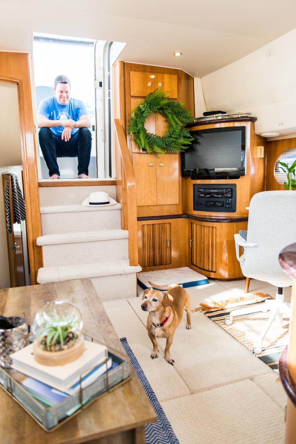 A Peek Inside Our Boat (Turned Tiny Home) -
