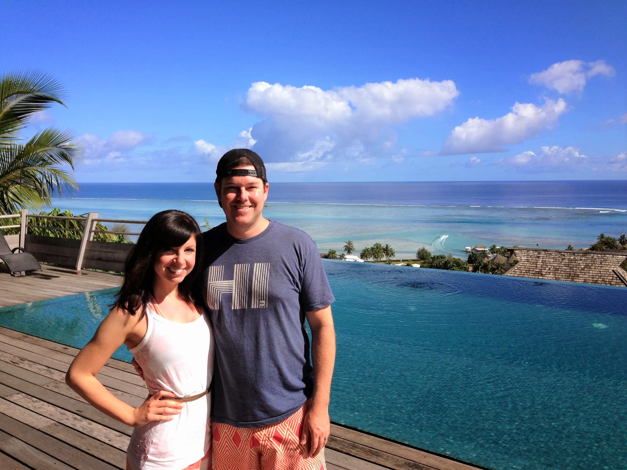 This was the view from the pool at Legends. We snapped it right before heading to the airport and onto Bora Bora!