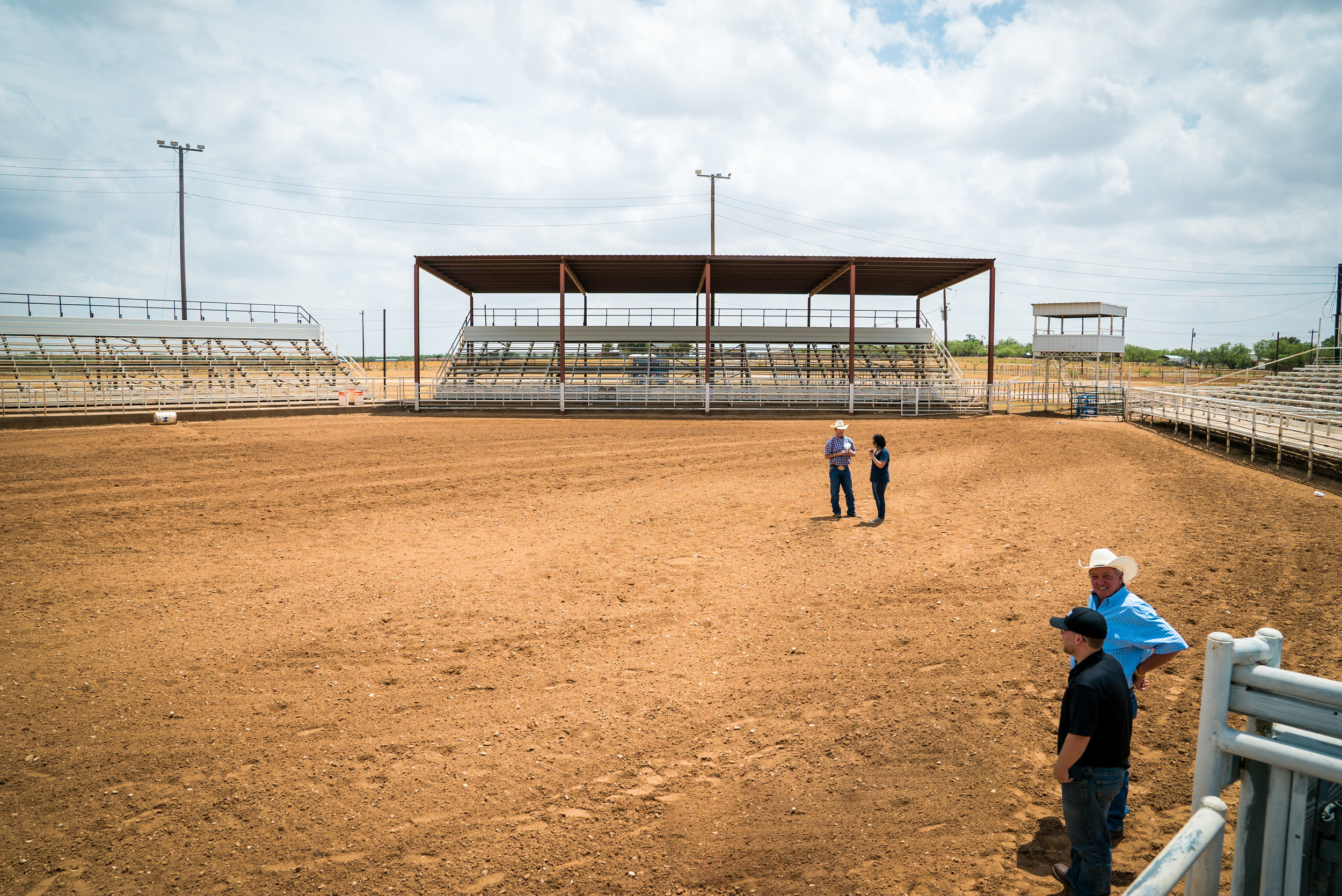 Tuff scouting the Scurry County Rodeo Arena in Snyder, Texas