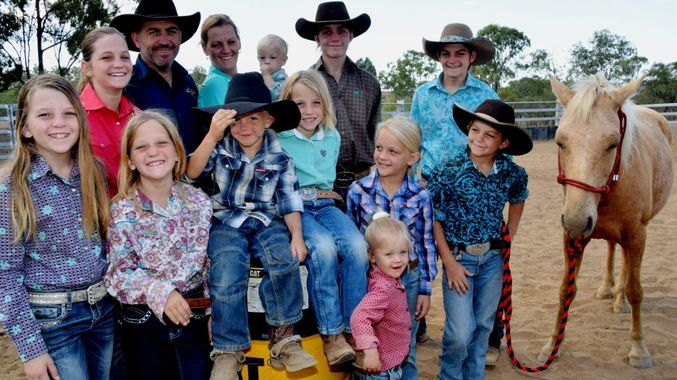 "Photo credit: The ""rodeo mad"" Leather family of Australia"
