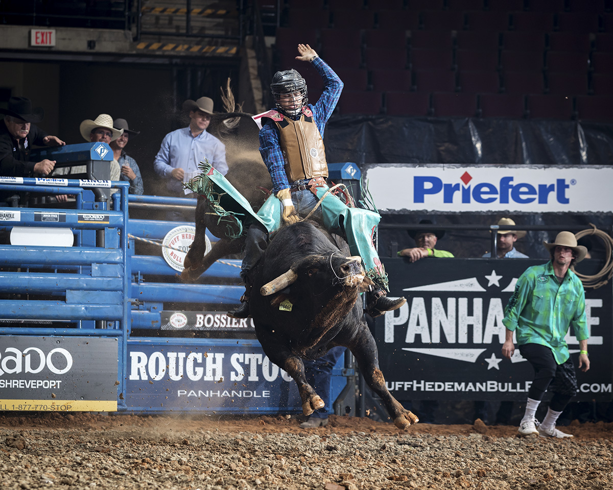 Matt Plamer on Tuff Hedeman Bull Riding Tour