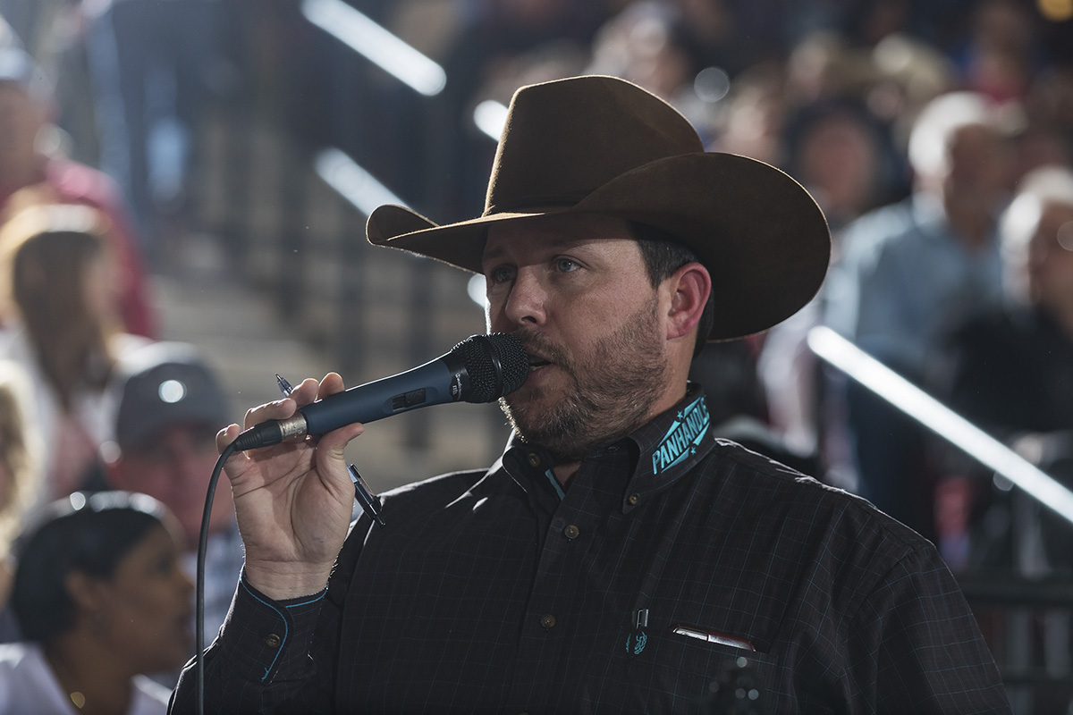Chris Rankin, Normangee, Texas is the Voice of the Tuff Hedeman Bull Riding Tour