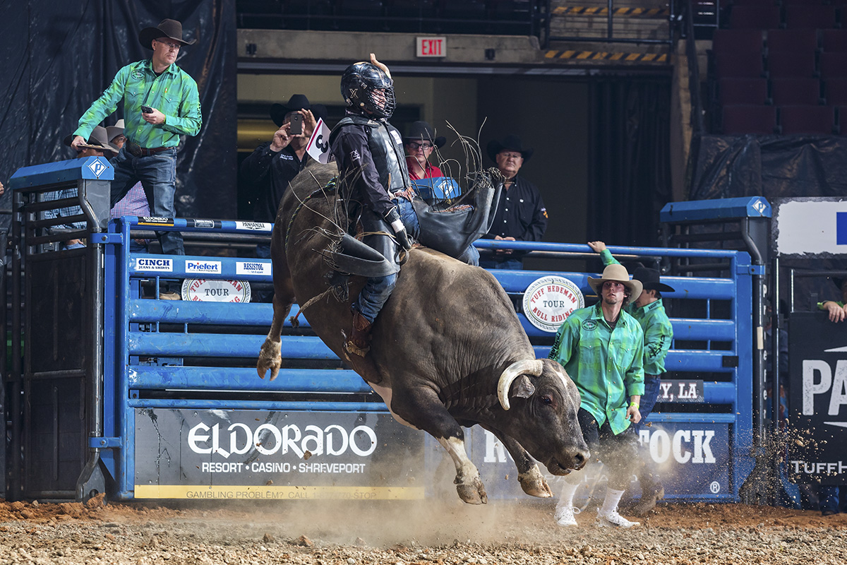 """""""When you come to Tuff's events, you know you are guaranteed to get on a good bull and the atmosphere and the fans are just inspiring,"""" said Vastbinder."""