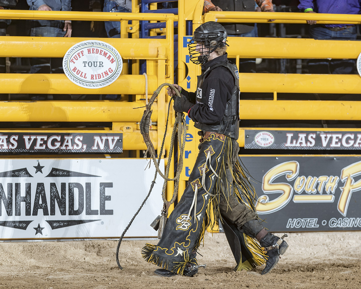 Tuff Hedeman welcomed Parker, son of one of his PRCA and PBR competitor, Scott Breding, to the Tuff Hedeman Bull Riding Tour in 2018  Photo credit: Todd Brewer