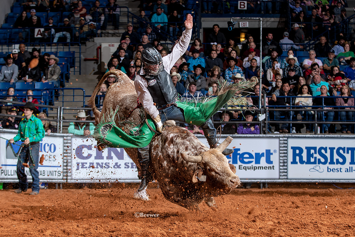 Askey, one of two bull riders to ride three rode Melton's Chaos Ghost for 89 points in the Shoot Out round. Askey lost the title to Moore on a back judge tie-breaker score. Askey placed second and took home $15,000 for his efforts.