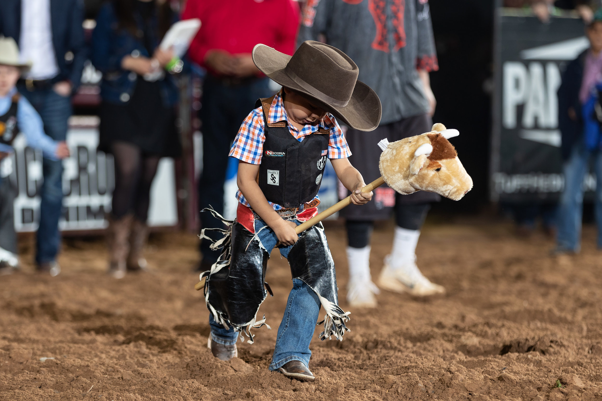 Teachers Federal Credit Union Stick Bull Riding Champion Reato Martinez, 4 years old