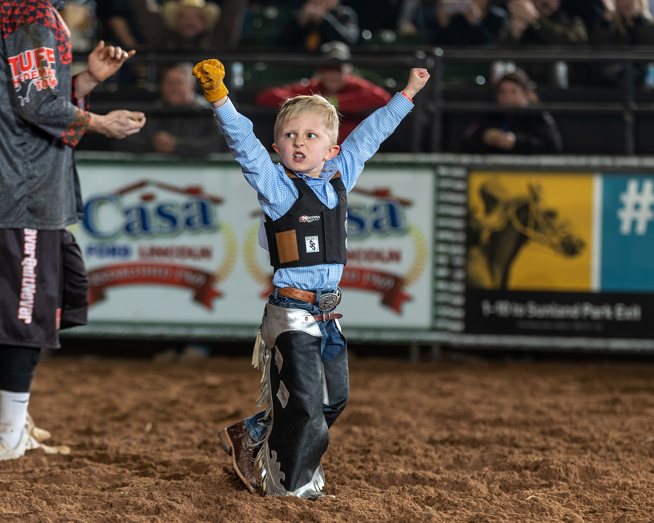 Budding bull riders (girls and boys) age 6 and under can enter the Tuff Hedeman Challenge Stick Bull Riding by emailing stickbullrider@aol.com. Winner receives Tuff Hedeman Trophy Buckle.