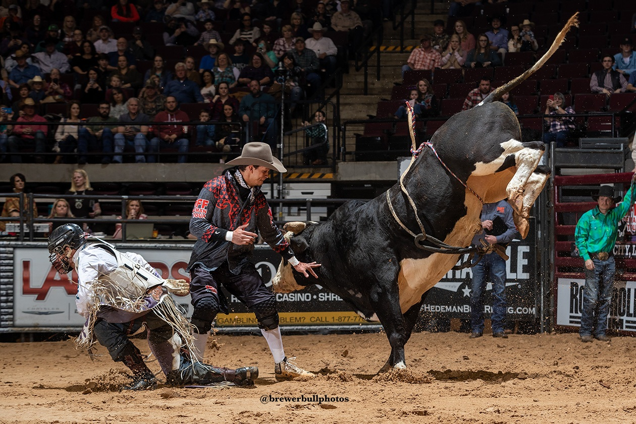 Local resident Bryce Redo, former Bullfighters Only Champion and currently working for the PRCA and Tuff Hedeman will be protecting cowboy lives in Baytown.