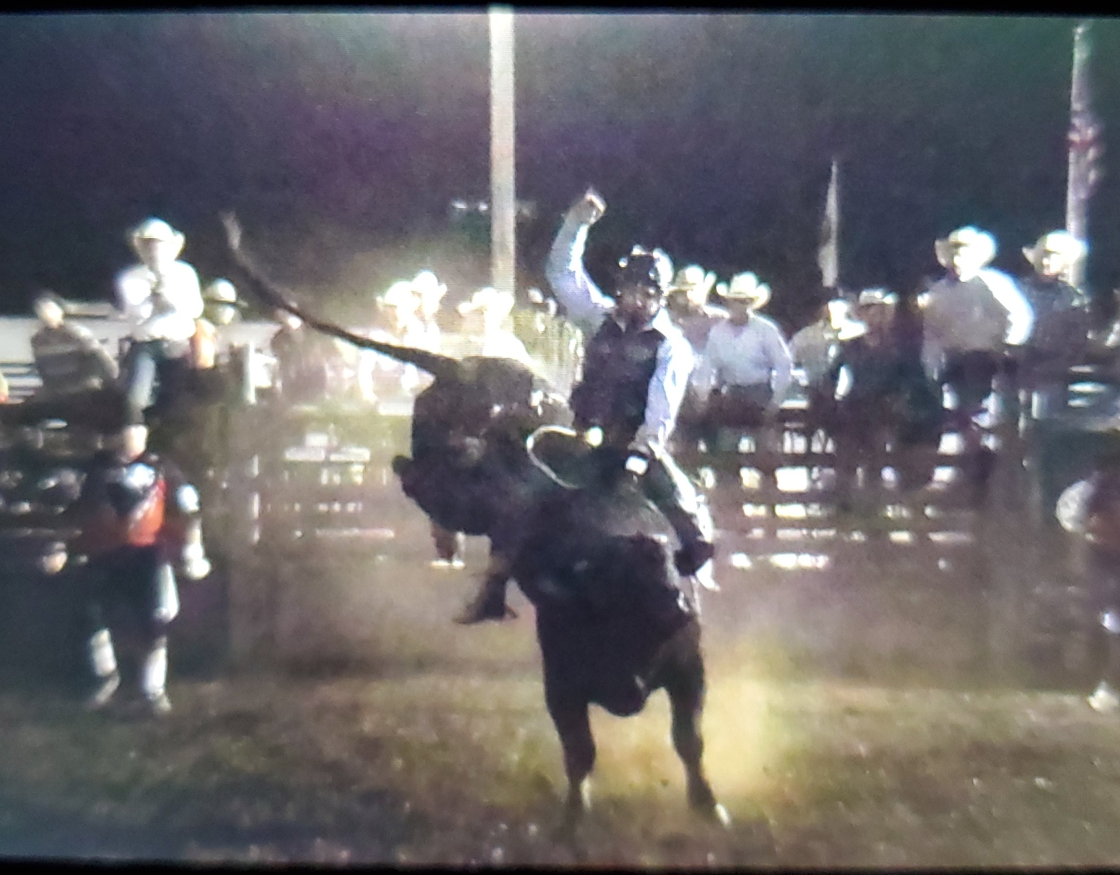 """Jake Weber Wins season opener of the Tuff Hedeman Mid West Swing Breakout Series in Woodstock, Illinois. Photograph: Weber on bounty bull """"Y"""" Mr. Wilson from CC Bucking Bulls for 92.5 points. Photo by V Veronica Pizor."""