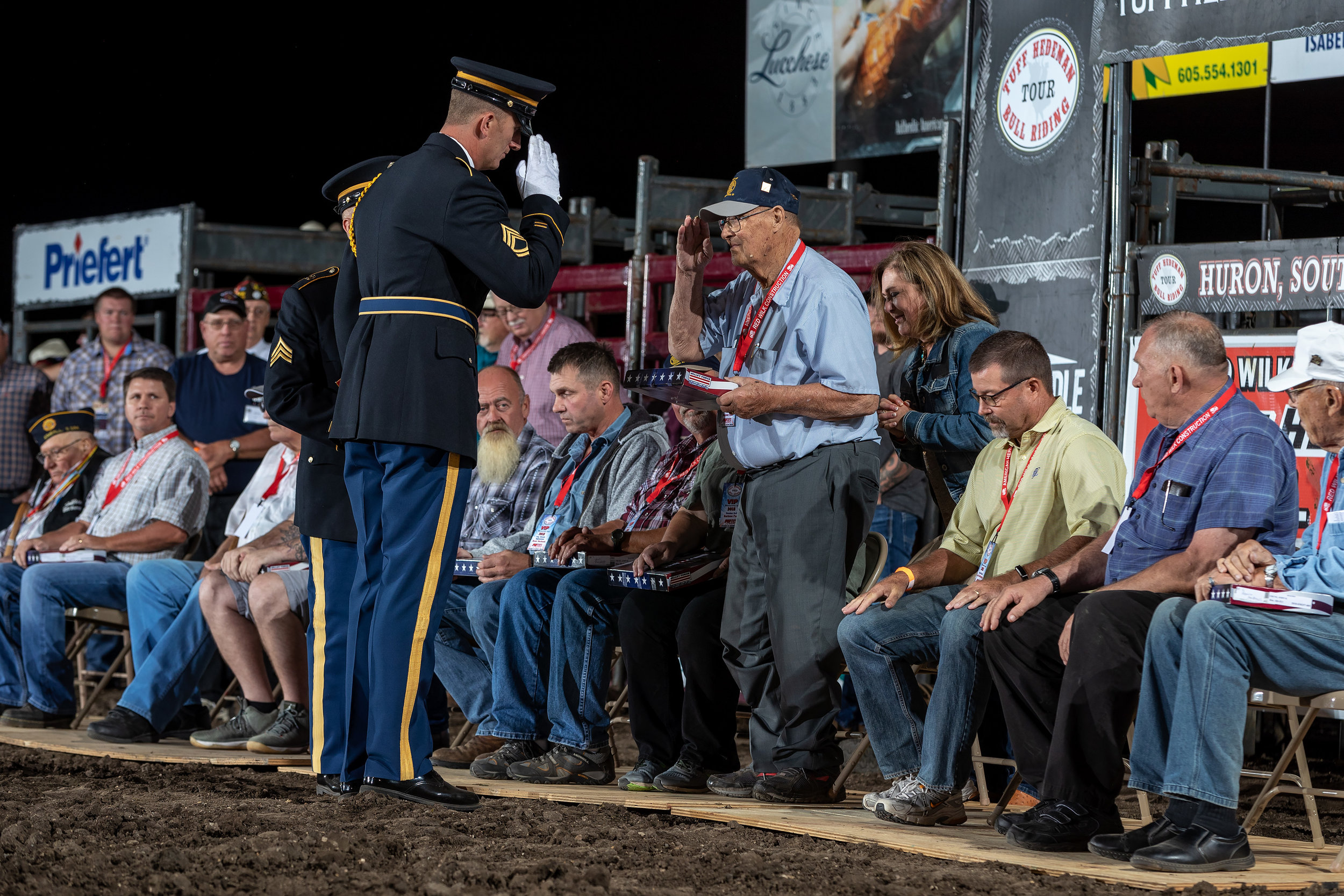 American Hero Ceremony at the Red Wilk Construction Bull Bash began in 2003