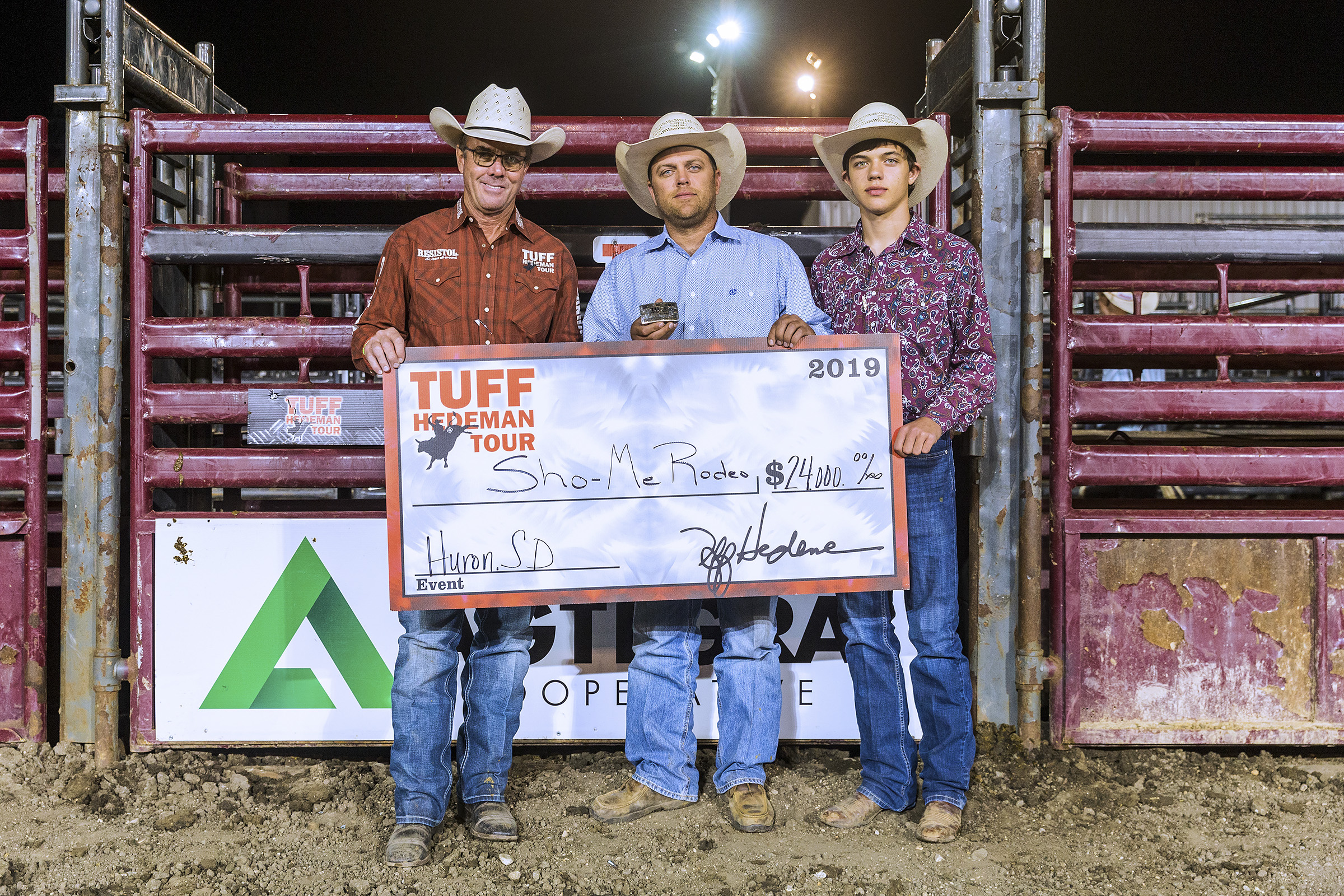 Sho-Me Rodeo WIns Tuff Hedeman Bull Team Competition on night two of the Bull Bash in Huron. Show-Me is owned by Joe Anderson of Buffalo, Missouri.