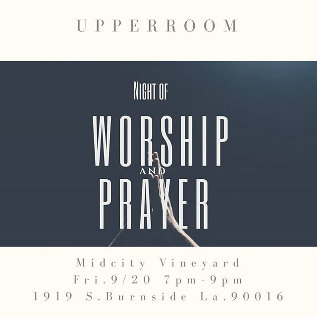Join us tonight for a special night of Worship and Prayer at 7:00pm Come Holy Spirit!