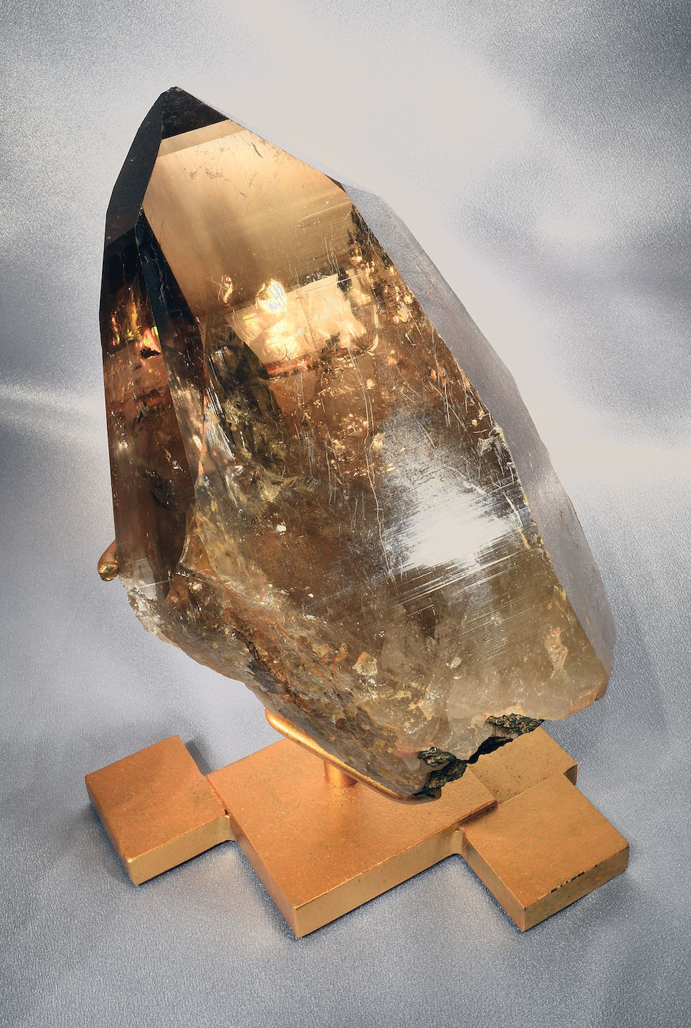 Natural citrine on stand 1.jpeg