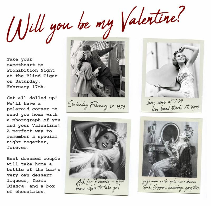 Valentine's Day Themed Prohibition Night!