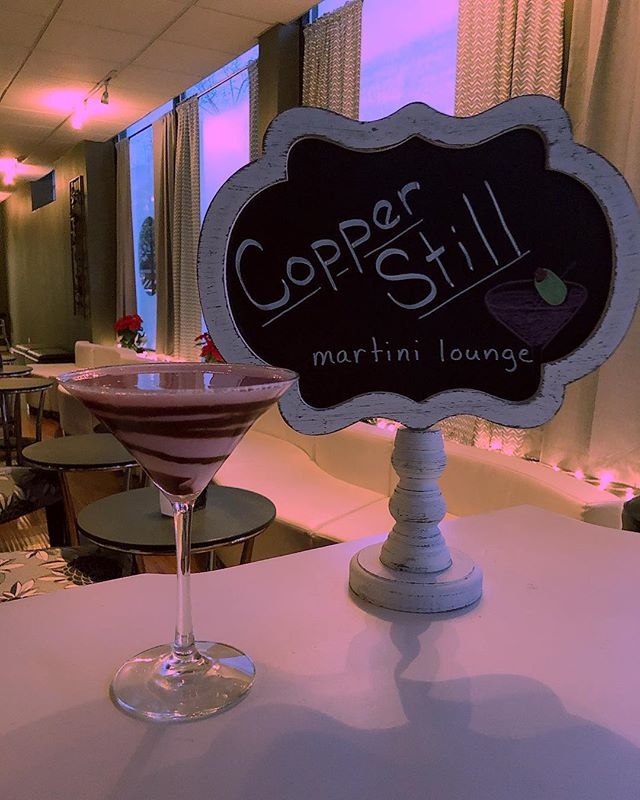 Happy Valentine's Day from us at the Copper Still!  Today we are offering a special dessert martini called the Chocolate Strawberry Kiss 💋 You'll be sure to LOVE it ❤️ #CopperStillMartiniLounge #BlindTiger #JGrantExperience #Martini #CdVodka #ChocolateStrawberryKiss #Homewood